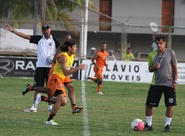 Ceará voltou aos treinos hoje à tarde, em Porangabuçu