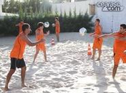 Grupo alvinegro realiza treino físico na caixa de areia