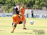 Alvinegros finalizam treino antes do embarque para São Paulo