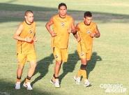 Alvinegros voltaram aos treinos nesta tarde