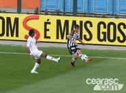 Ceará joga bem no Pacaembu, mas perde para o Santos por 1 x 0
