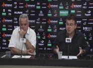Robinson de Castro e Marcelo Segurado comentam sobre especulações, em coletiva de imprensa