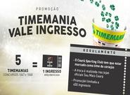 Troque apostas da Timemania por ingressos de Ceará e Oeste