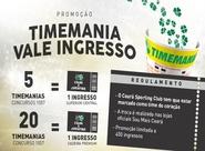 Troque apostas da Timemania por ingressos de Ceará e Juventude
