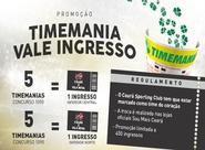 [ESGOTADO] Troque apostas da Timemania por ingressos de Ceará e Vila Nova