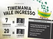 """Promoção """"Timemania Vale Ingresso"""" continua nessa sexta-feira"""