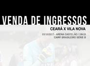 Ceará x Vila Nova: Confira informações sobre a venda de ingressos