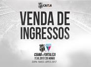 Ceará x Fortaleza: Continua venda de ingressos