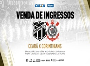 Continua a venda de ingressos para a partida entre Ceará e Corinthians