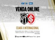 Ceará x Internacional: Venda de ingressos começa nesse sábado em todas as lojas oficiais e internet