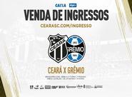Ceará x Grêmio: Confira informações sobre a venda de ingressos