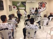 Atletas do Ceará Caçadores e colaboradores do Mais Querido participam de palestra sobre o Novembro Azul