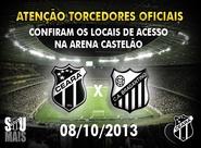 Confira os mapas de acessos para o jogo Ceará x Bragantino