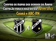 Torcedor Oficial: Confira os mapas de acessos para o jogo Ceará x ABC
