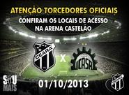Confira os mapas de acessos para o jogo Ceará x Icasa