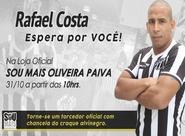 Neste sábado, Rafael Costa estará na Loja Oficial da Oliveira Paiva esperando por você