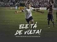 Autor do gol do bicampeonato de 2012, atacante Felipe Azevedo assina com o Vovô para 2018