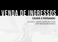Neste domingo, venda de ingressos para Ceará x Paysandu continua na Escolinha Fábrica de Craques e Sou Mais Shopping Aldeota