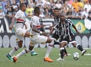 Brasileirão: Ceará pressiona, mas fica no empate sem gols contra o São Paulo