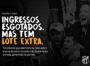 Com ingressos esgotados para Ceará x ABC, torcedor pode garantir entrada com adesão ou renovação ao sócio-torcedor