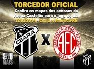 Ceará x América/RN: Confira as entradas e locais de acesso