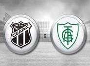 Em momentos diferentes, Ceará e América/MG se enfrentam