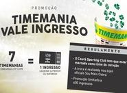 Troque apostas na Timemania por ingressos para Ceará x Bahia
