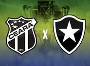 Começou a venda de ingressos para Ceará x Botafogo, pela Copa do BR