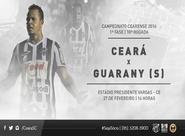 No encerramento da 1ª fase do Estadual, Ceará recebe o Guarany (S)