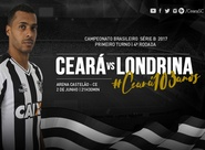 Com valores a partir de R$ 10,00, venda de ingressos para Ceará x Londrina começa nessa segunda-feira
