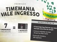 Promoção Timemania vale ingressos