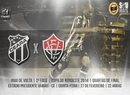 Decisão entre Ceará x Vitória será nesta noite, no estádio Presidente Vargas (PV)