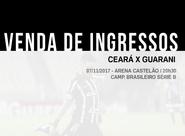 Ceará x Guarani: Continua venda de ingressos