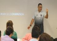 Marcelo Chamusca ministra palestra sobre liderança a gerentes da Caixa Econômica Federal