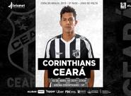 Fora de casa, Ceará enfrenta o Corinthians por classificação na Copa do Brasil