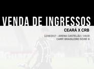Ceará x CRB: Com valor a partir de 20 reais, venda de ingressos inicia nesse domingo