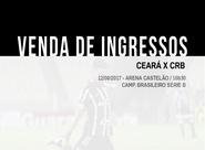Continua a venda de ingressos para Ceará x CRB
