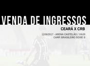 8083 ingressos já foram vendidos para partida entre Ceará e CRB