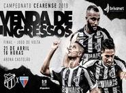 Cearense: Venda de ingressos para 2º jogo da final começa nesta segunda-feira