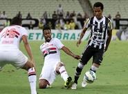 Ceará não resiste à pressão do São Paulo e se despede da Copa do BR