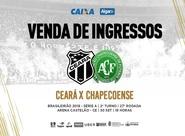 Ceará x Chapecoense: Com preços promocionais, venda de ingressos começa nessa terça-feira