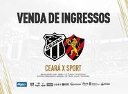 Ceará x Sport: Confira informações sobre a venda de ingressos