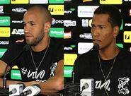 Em Porangabuçu, Éverson e João Marcos participaram da coletiva de imprensa