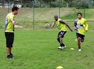 Parte do grupo treinou nesta manhã, em Florianópolis