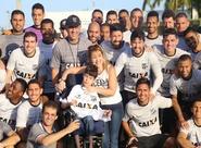 """Solidariedade: Elenco do Ceará reforça a campanha """"Sou amigo do Gabriel"""""""
