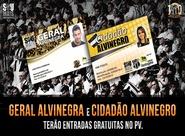 Planos Geral Alvinegra e Cidadão Alvinegro terão entradas gratuitas no PV