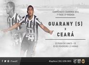 No primeiro jogo longe da capital, Vozão encara o Guarany (S)
