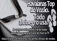 Havaianas Top do Vozão. Todo alvinegro usa