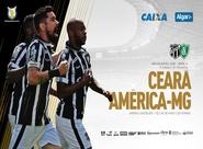Ceará e América/MG se enfrentam hoje, na Arena Castelão