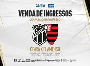 Continua a venda de ingressos para a partida entre Ceará e Flamengo